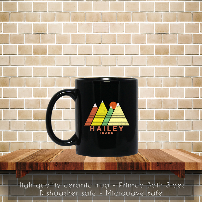 Hailey Idaho Retro Style Mountain Coffee Mug, Tea Mug, Coffee Mug, Retro Hailey