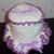 Toilet Tissue Holder, White with Lavender Crochet Ruffled Toilet Tissue Holder,