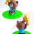 Line Friends x 7-Eleven World Cup Big Brown Piggy Coin Bank w/ Ten Stamp Figures