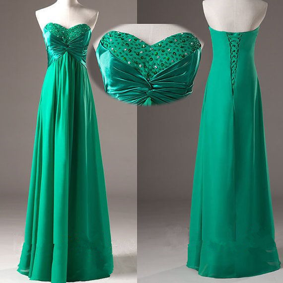 Green Elegant Prom Dresses 2016, Simple Prom Dresses 2016, Green Bridesmaid