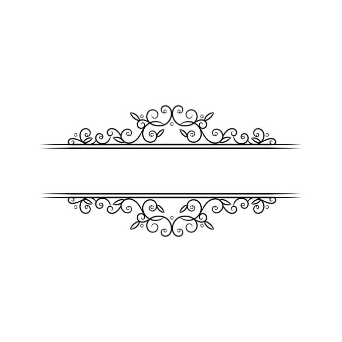 Flower Wedding Frame Ornament v3 Graphics SVG Dxf EPS Png Cdr Ai Pdf Vector Art