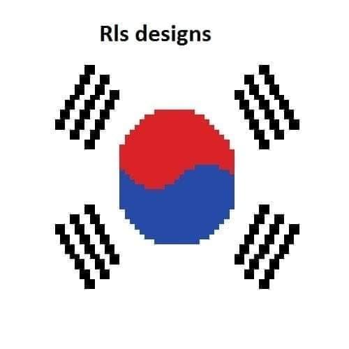 South Korea Flag Pillow