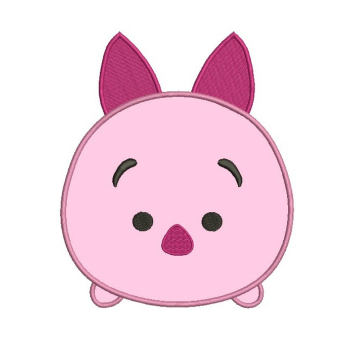 Tsum Tsum Piglet Applique Embroidery Machine Design