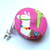 Tape Measure Alpacas on Pink Retractable Measuring Tape
