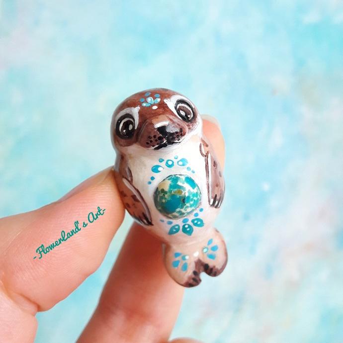 Healing animal. Aqua Terra Jasper Seal