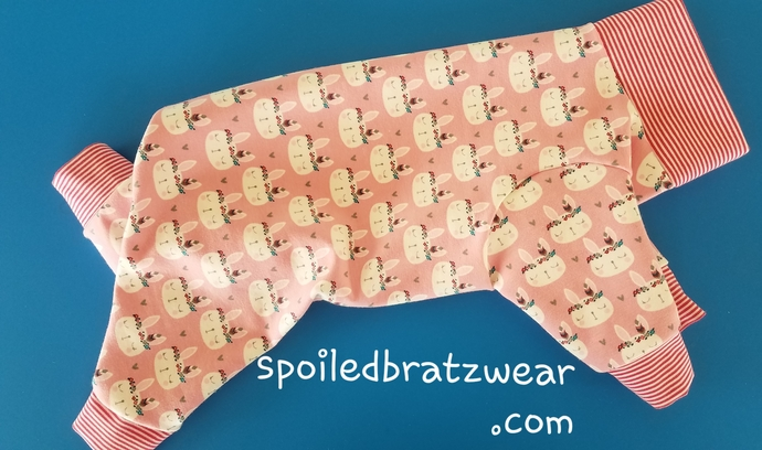 SMALL French terry soft bunny jammies