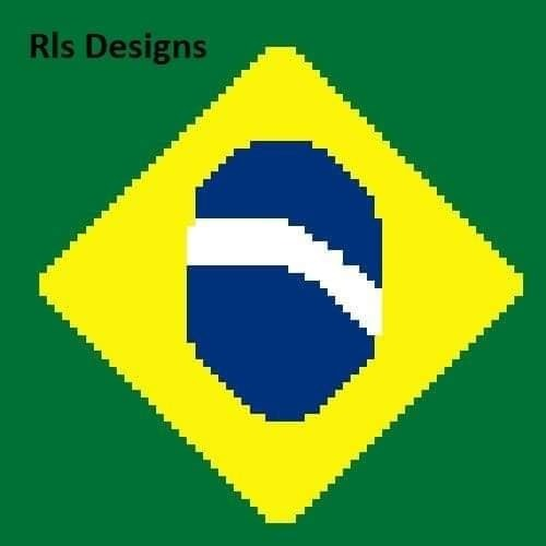 Brazil Flag pillow