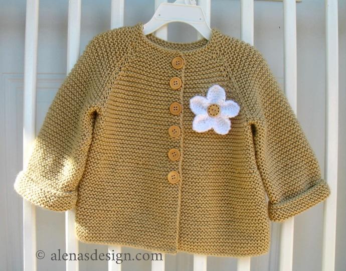 Knitting Pattern 228 Baby Cardigan with Embellishments Baby Jacket 3, 6, 12, 24