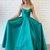 Spaghetti Straps Long Turquoise Prom Dress