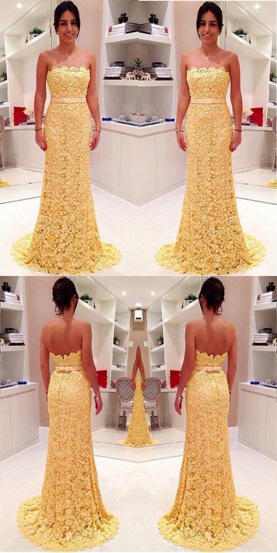 lace prom Dress,Long Prom Dress