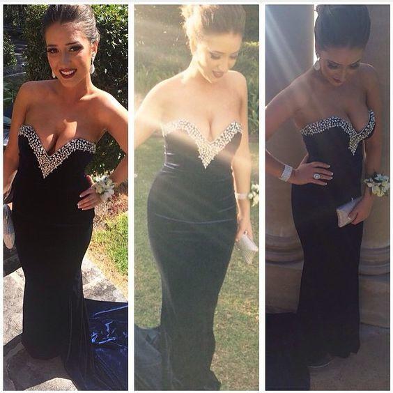 Black Prom Dress,Long Evening Dress,Evening Gown,Formal Evening Dress,Prom