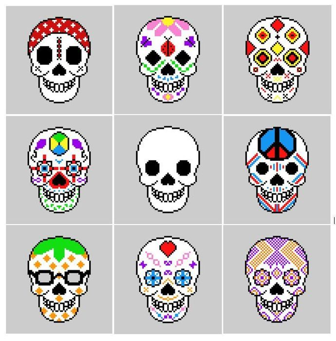 Sugar Skull Crochet-A-Long (CAL): Complete Set
