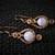 Blue Lace Agate 3 Spiral Copper Woven Earrings (E105)