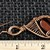 Red Tiger Eye Copper Dangle Earrings; Wire Wrapped Woven Earrings (E110)