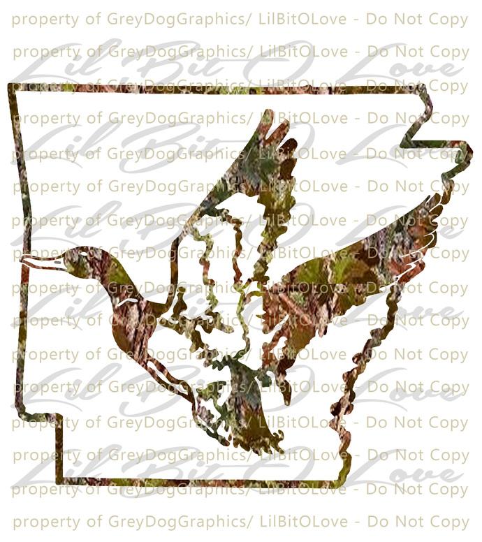 Arkansas Duck Vinyl Decal Sticker Auto Window Car Tatoo Vehicle Duck Hunting