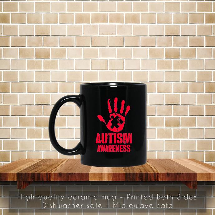 Autism Hand Puzzle Awareness Coffee Mug, Tea Mug, Coffee Mug, Autism Hand Mug,