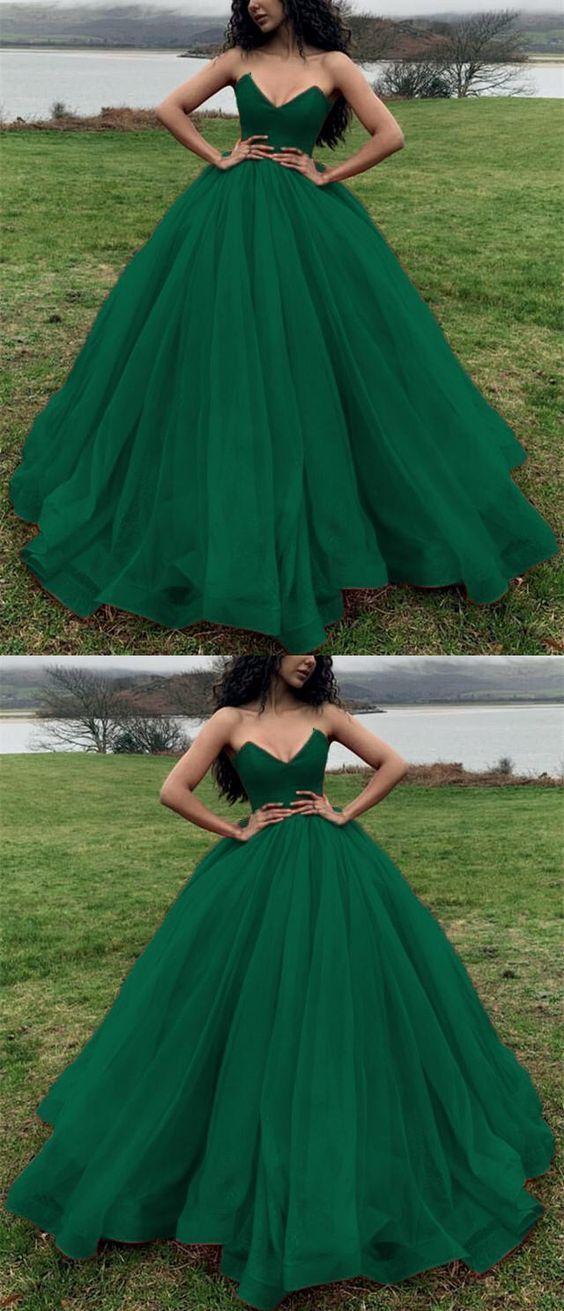 dark green ball gown wedding dresses