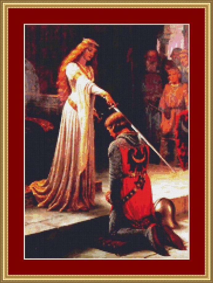 The Accolade Cross Stitch Pattern - Instant Digital Downloadable Pattern