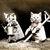 Gardening Cats Cross Stitch Pattern - Instant Digital Downloadable Pattern