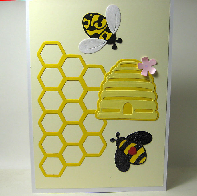10pc Bees, Bee Hive and Honeycomb Die Set