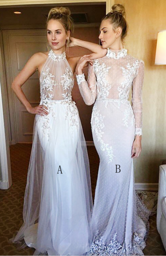 Sexy Lace Mermaid Prom Dresses , Long Evening Dress for Occasion, Formal Evening