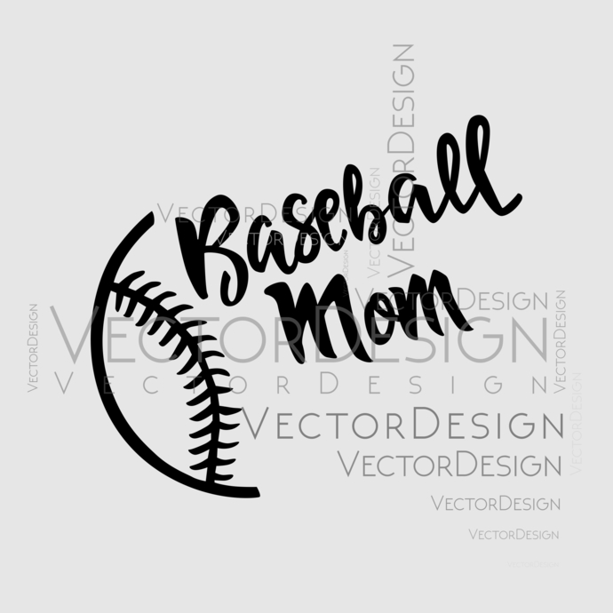 Baseball mom Graphics SVG Dxf EPS Png Cdr Ai Pdf Vector Art Clipart instant