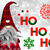 Ho Ho Ho Cross Stitch Pattern - Instant Digital Downloadable Pattern