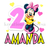 Minnie Mouse Birthday Girl Iron On Transfer Pink/Yellow