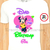 Minnie Mouse Birthday Girl Family Members Iron On Transfers/Purple/Green/Pink