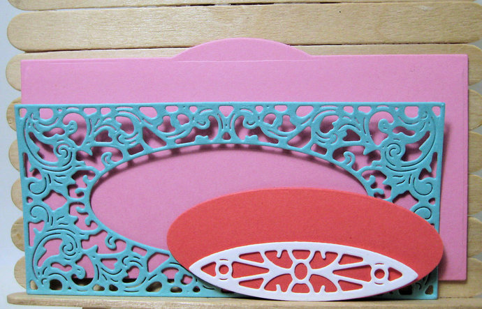 6pc Large Frame Metal Cutting Die Set, Beautiful Style #6