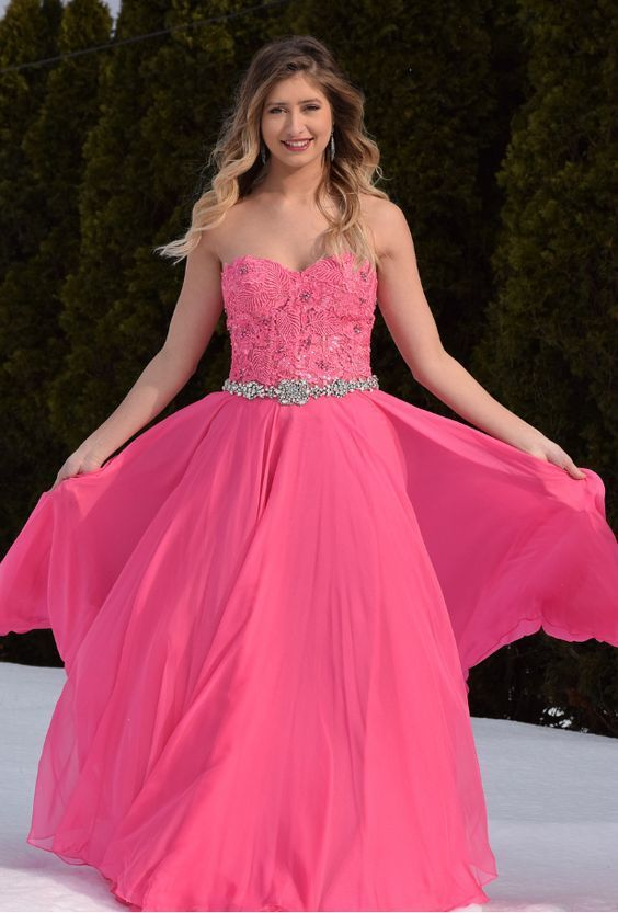 Sexy Lace Appliques Chiffon Long Prom Dress Party Gowns