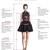 Elegant Formal Black Chiffon Sheath Deep V-neck Backless Prom Dress With Beading