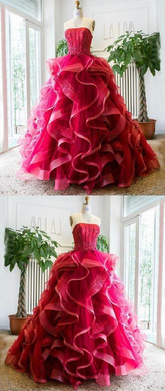Fabulous Appealing Custom Prom Dress, Prom Dress Unique, Strapless Beautiful