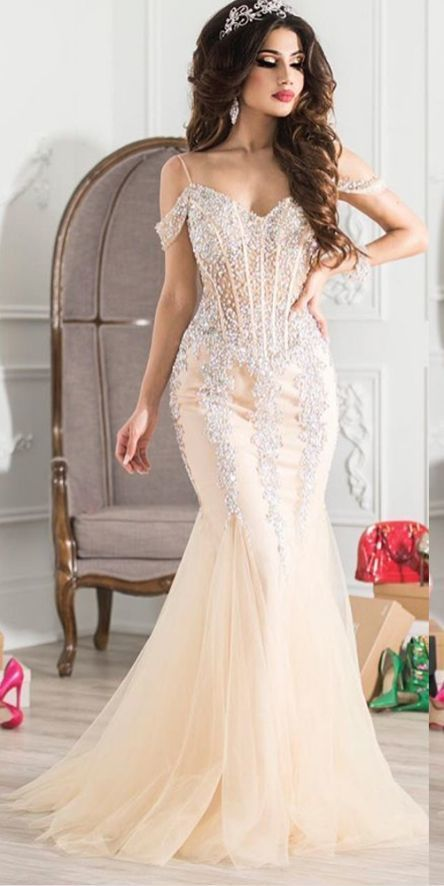 Stunning gorgeous princess evening dresses, sexy prom dress, luxury prom dresses