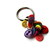 Rainbow Button Key Ring Key Chain FREE US Shipping