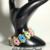 Jewelry Superduo Flowers handmade pastel Bracelet