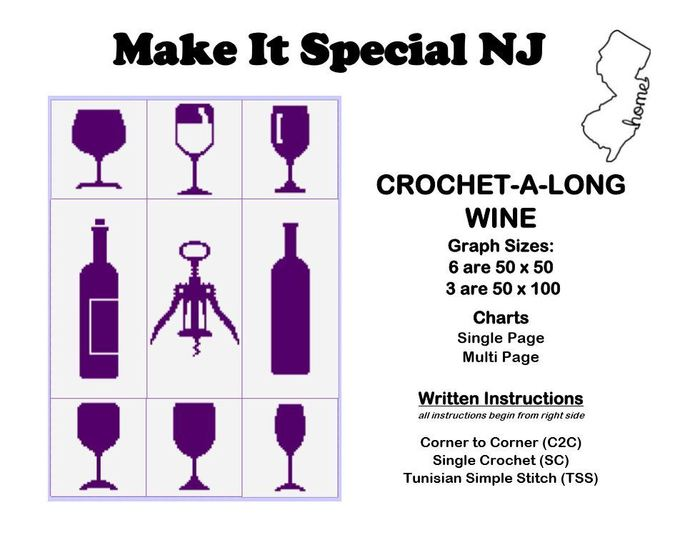 Wine Crochet-A-Long (CAL): Complete Set