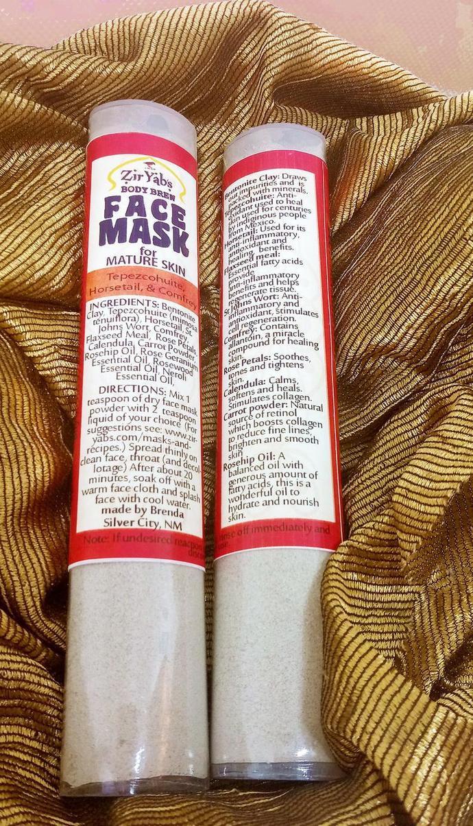 Face Mask for Mature Skin | Tepezcohuite Face Mask | Comfrey Facial Treatment |
