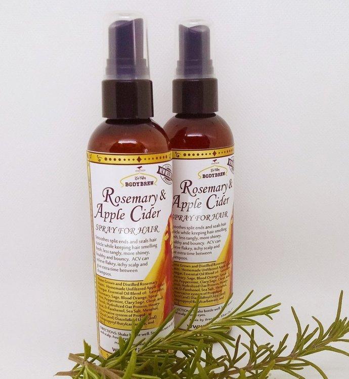 Rosemary Apple Cider Vinegar Hair Spray | Natural anti-static | Hair Refreshing