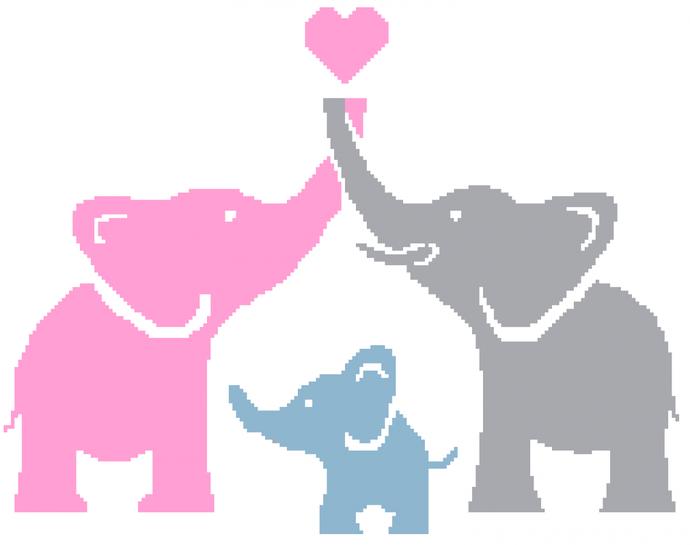 Elephant  Crochet Family