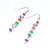 Dangle Earrings beaded in sparkling ROY G BIV colors