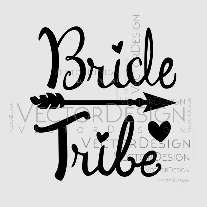 Bride Tribe Graphics SVG Dxf EPS Png Cdr Ai Pdf Vector Art Clipart instant