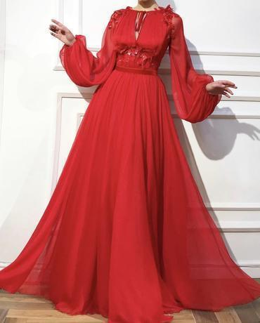 Red Candy Apple dress color Tulle dress fabrics F3258