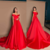 off shoulder red prom dress,sweep train party dress,long prom dress,elegant