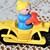 Hard To Find Vintage Fisher Price Lime green Boy- Motorcycle plus more!!