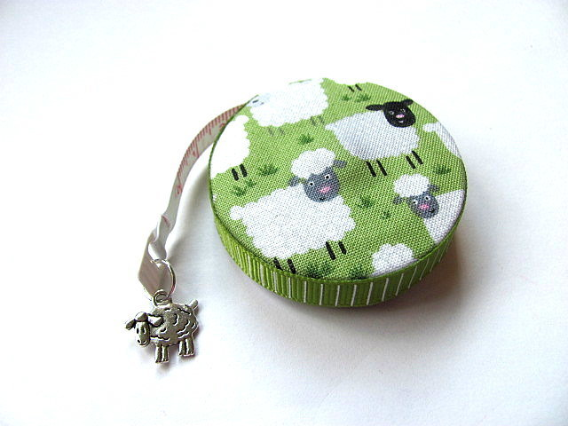 Tape Measure Sheep in a Field Retractable Measuring Tape