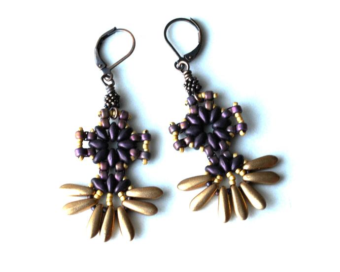 Skyflower Earrings Pattern by DatzKatz Designs