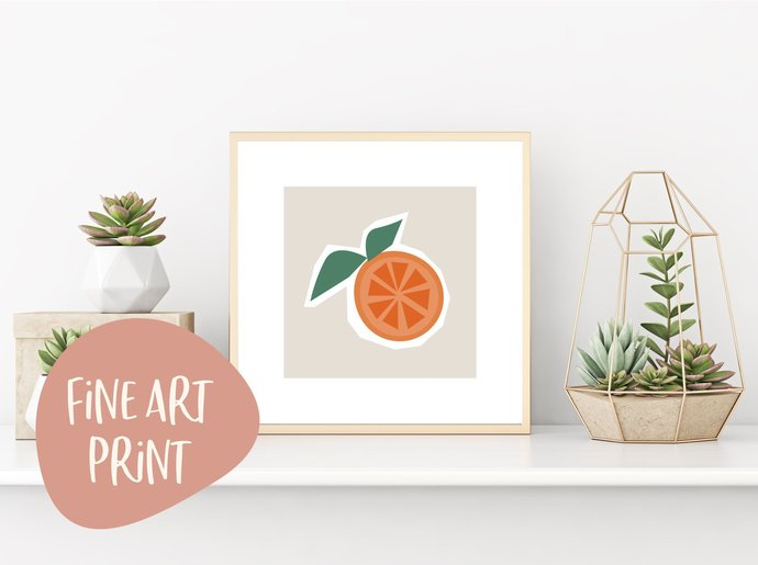 Orange you glad I'm here print, personalized tropical art