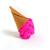 Scoopsie Dragon Fruit, ice cream scoop Art Toy, collectible art toy, fiber art