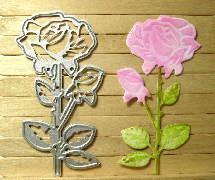 Rose Metal Cutting Die for Card Making Style #2
